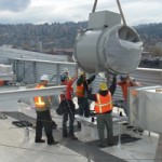 construciton workers during hvac installation